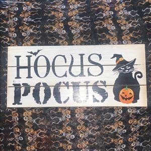 Halloween Cat Witch Wall Decor Art